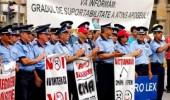 POLITISTII AMENINTA CU PROTESTE DACA NU LE CRESC SALARIILE
