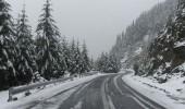 TRANSFAGARASUL INCHIS! La BALEA LAC ninge in continuare, stratul de zapada ating…