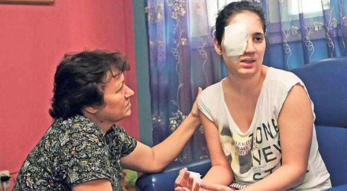 Daniela Borz, fata impuscata in ochi, este audiata la Parchet