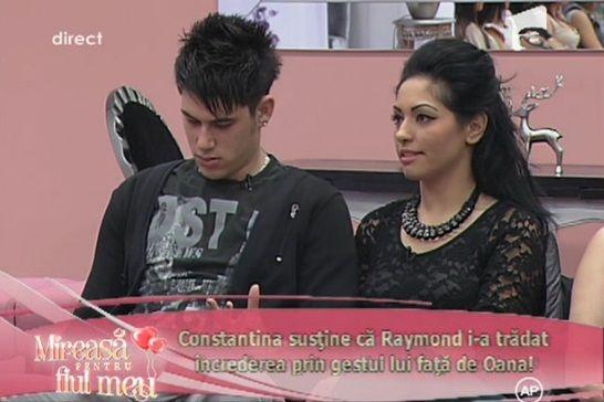 Mireasa Pentru Fiul Meu, 7 ianuarie 2014: VIDEO. Raymond, Constantina si-un sarut pentru Oana!
