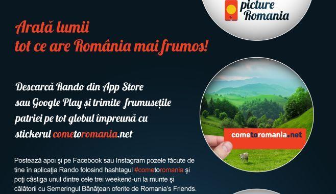 Romania, promovata in strainatate prin aplicatia Rando