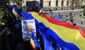 Aproximativ 3.000 de persoane au participat in Bucuresti la un MARS pentru UNIREA ROMANIEI cu REPUBLICA MOLDOVA