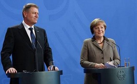 GERMANIA: KLAUS IOHANNIS a sustinut o conferinta de presa comuna cu ANGELA MERKEL! DECLARATII