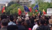 REPUBLICA MOLDOVA: PROTEST la CHISINAU fata de organizarea ALEGERILOR – LIVE VIDEO