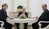 HOLLANDE, MERKEL si PUTIN, discutii despre criza din Ucraina si conflictul din S…