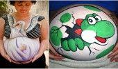 15 femei insarcinate care si-au pictat burticile in cel mai original mod