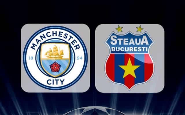 MANCHESTER CITY v STEAUA, 21.45, Pro Tv, Dolce Sport / Primul 11 al ros-albastri…