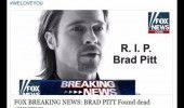 Stirea care a devenit VIRALA astazi! FOX NEWS: BRAD PITT a MURIT!