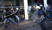 GRECIA: GREVA GENERALA a degenerat in PROTESTE VIOLENTE