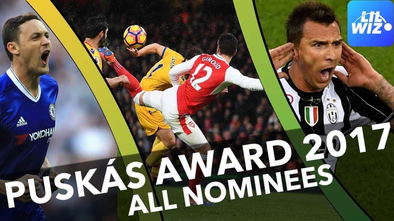 FIFA PUSKAS AWARD 2017: Nominalizarile pentru cel mai FRUMOS GOL al anului! VIDEO