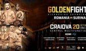 GOLDEN FIGHTER CRAIOVA: ROMANIA vs SURINAM. Centura WKU pusa la BATAIE in BANIE