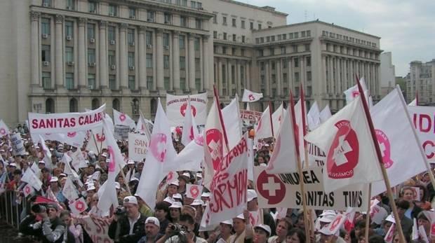 PROTEST SANITAS: MITING al SINDICATELOR din SANATATE in CAPITALA! Sunt asteptati cateva mii de oameni