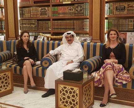 Europarlamentarul PPE Ramona Mănescu s-a întâlnit cu H.E. Hamad Bin Abdulaziz Al-Kawari
