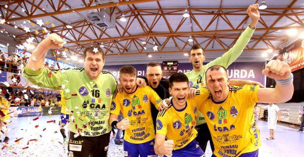 challenge cup, potaissa turda, handbal masculin, castigatoare, trofeu, golaveraj