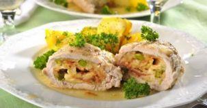 rulouri piept pui, mod preparare, ingrediente, reteta culinara