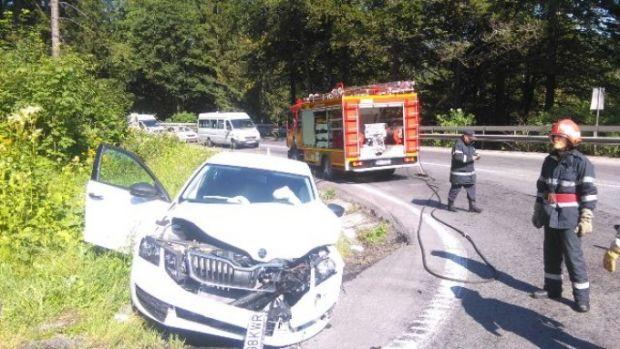 Predeal: Accident rutier grav soldat cu șapte răniți! Circulația pe DN 1, întreruptă