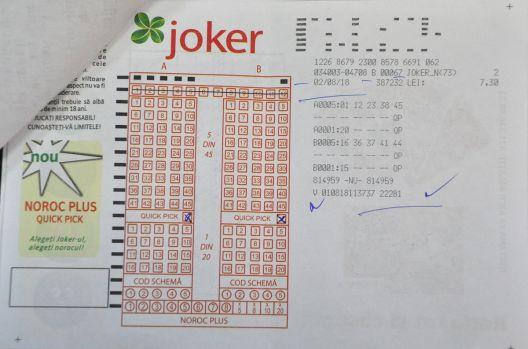 Trageri loto. S-a câștigat marele premiu la Joker