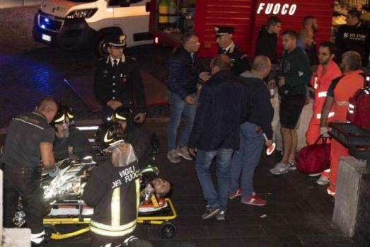 Zeci de suporteri ai lui TSKA Moscova răniți la metroul din Roma. Video