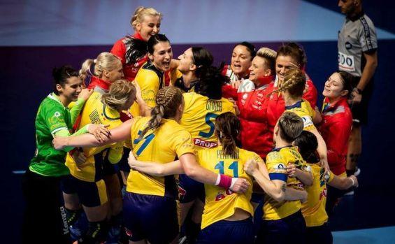 CE handbal feminin. România a surclasat campioana Europei, Norvegia, cu scorul 31-23