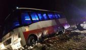 Olt. Un autocar cu 29 de pasageri, care circula de la Târgu Mureş la Craiova, s-a răsturnat