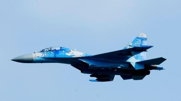 Ucraina. Un avion de vânătoare Su-27 al armatei s-a prăbușit