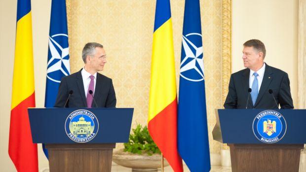 Klaus Iohannis l-a primit pe secretarul general al NATO Jens Stoltenberg. Declarații