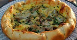placinta cu ciuperci, reteta culinara, ingrediente, mod preparare