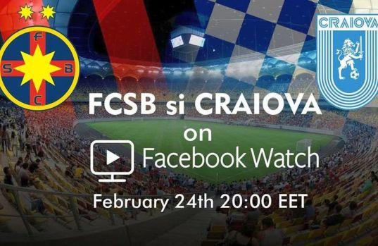 FCSB – CSU Craiova este live video pe Facebook! În premieră derby-ul va putea fi urmărit și pe rețeaua de socializare dar cu o condiție!