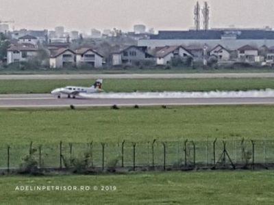 avion-in-flacari-pe-aeroportul-din-baneasa-foto-588783