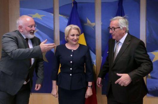 Viorica Dăncilă a dat-o la pace cu Juncker și Timmermans la Bruxelles! Promisiunea premierului