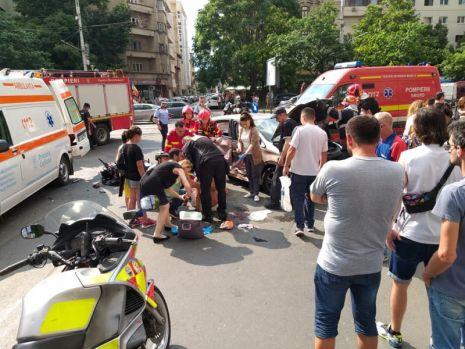 București. O șoferiță neatentă a provocat un accident cu patru răniți, în centrul Capitalei
