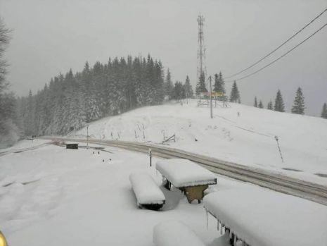 Locul din România unde a nins pentru prima dată în luna iulie