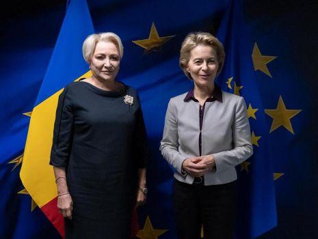 Viorica Dăncilă s-a întâlnit cu preşedintele Comisiei Europene, Ursula von der Leyen! Despre ce au discutat