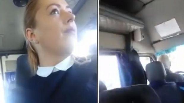 Femeie înjurată ca la uşa cortului de şoferul unui microbuz! Solicitarea pasagerei! Video