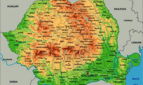 Romania Văzută Din Spaţiu De Satelitul Sentinel 2 Foto In